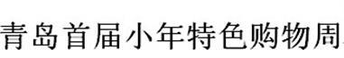 展会标题:2017青岛首届小年特色购物周