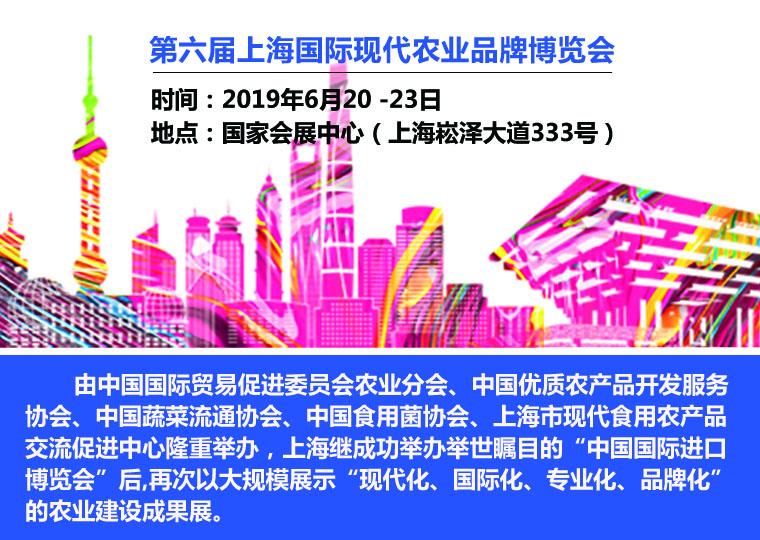 2019第六届上海国际现代农业品牌展览会